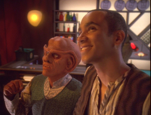 Quark and Jake imagine the Klingon bachelor party