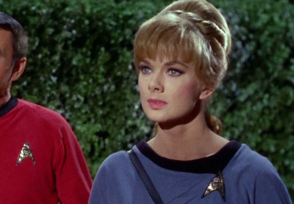 Carolyn Palamas in her science uniform