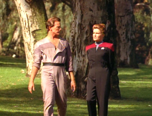 Janeway and Paris in Caretaker