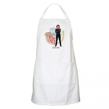 Apron with image of Captain Janeway on it