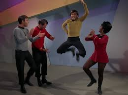 Chekov does a Russian dance