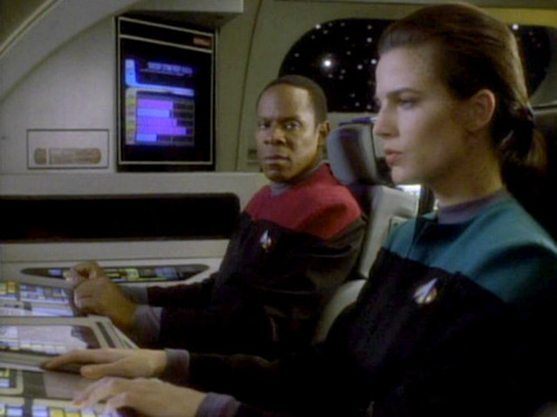 Sisko and Dax in a runabout