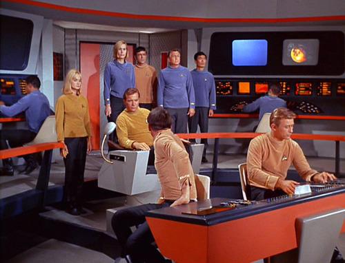 The bridge crew plus Dehner