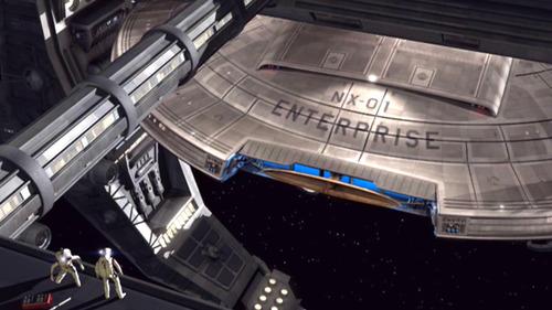Enterprise NX-01 in spacedock
