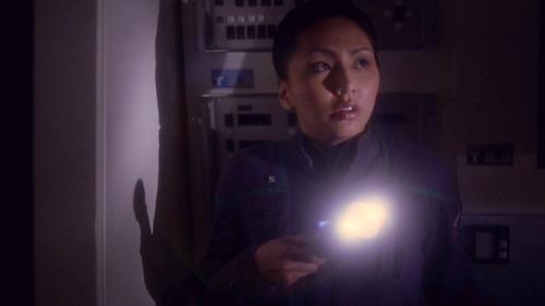 Hoshi with a flashlight