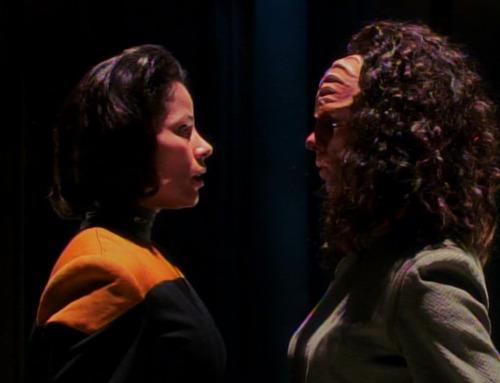 Human and Klingon B'Elannas face off