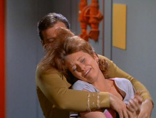 Kirk cradles a sobbing Lester