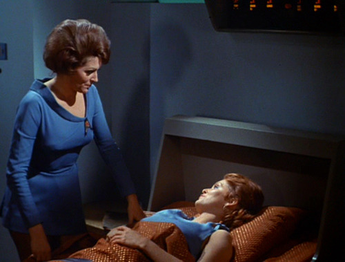Chapel talks to Lester in Sickbay