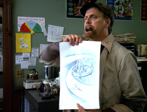 J.G. Hertzler's character holds drawing of DS9
