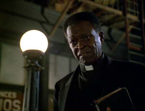 Joseph Sisko as a street preacher
