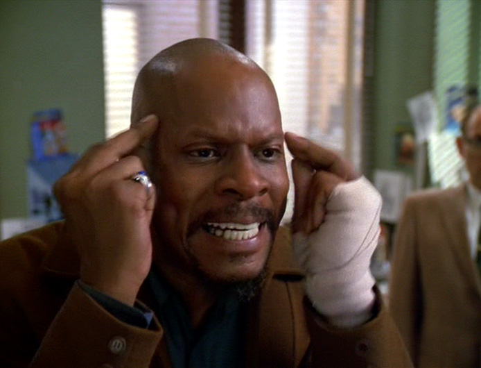 Benny points at his head and says Ben Sisko is real