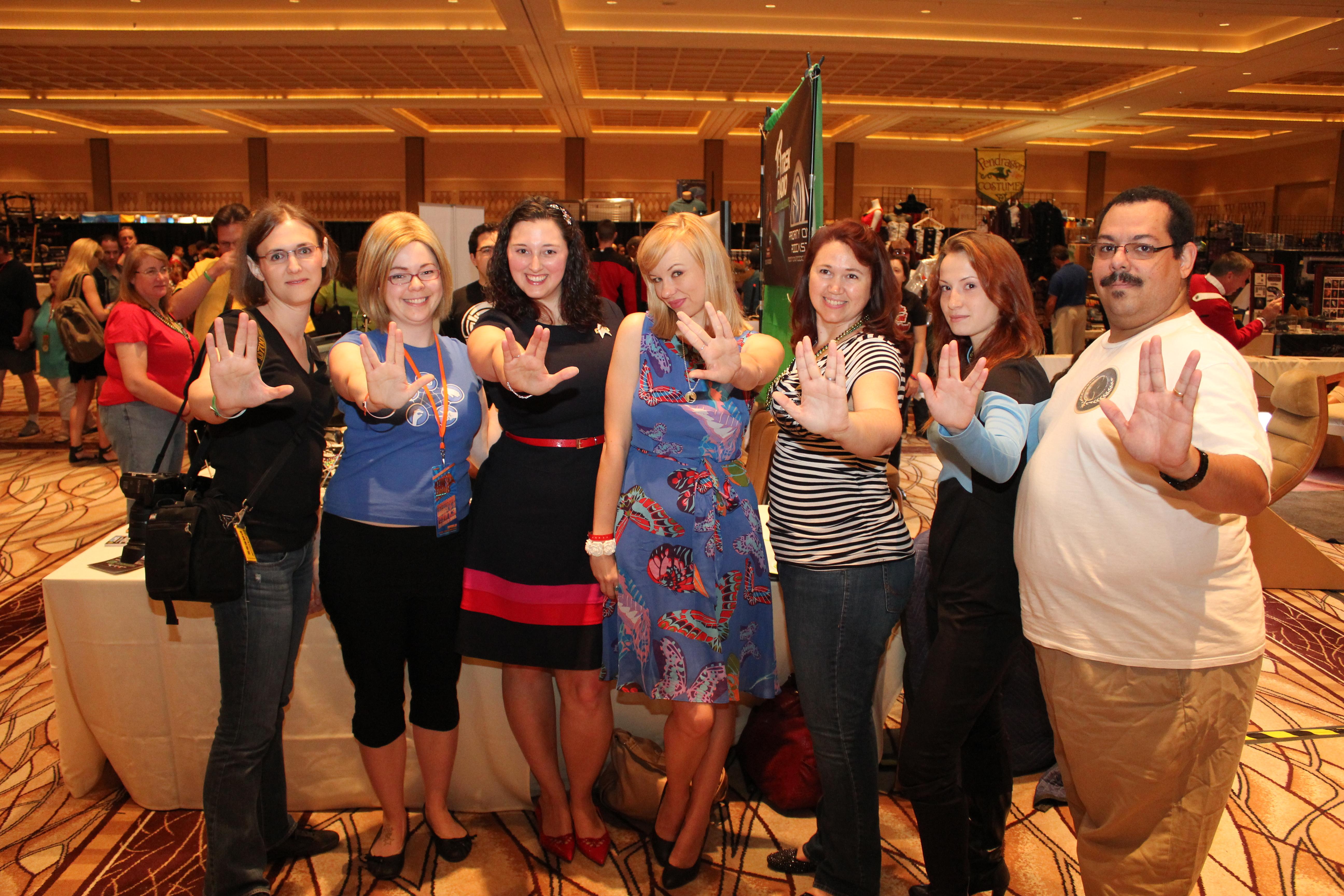 Group photo of our Star Trek women's panel