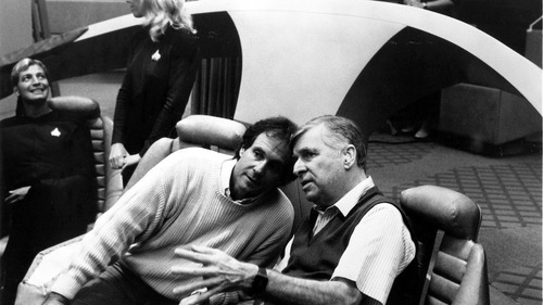 Gene Roddenberry Talks to Rick Berman on the TNG set