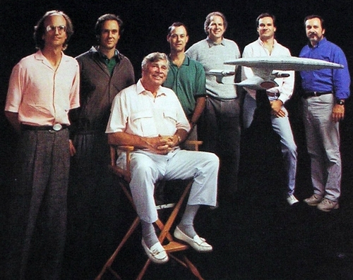 TNG writers including Gene Roddenberry, Rick Berman and Michael Piller