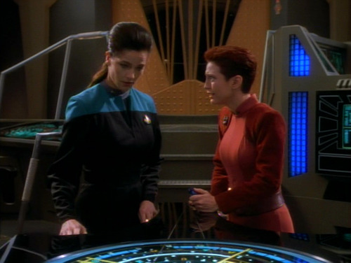 Kira argues with Dax in Ops