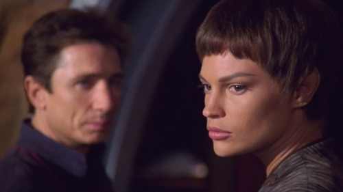 Reed and T'Pol look back at the sensor system