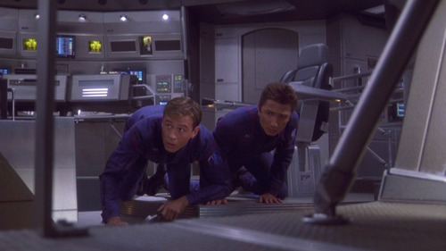 Trip and Reed find themselves beamed to the bridge