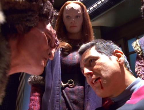 Cullah and Seska interrogate Chakotay