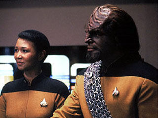 Mae Jemison and Worf