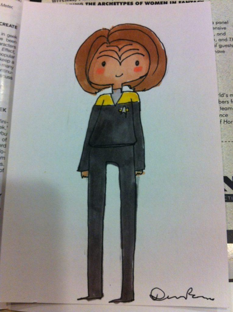 Cute drawing of B'Elanna Torres