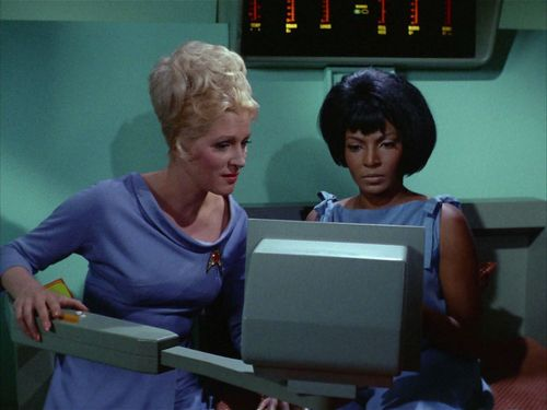 Chapel helps Uhura learn to read
