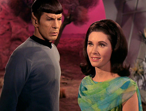 Spock and Nancy Hedford after her metomorphosis