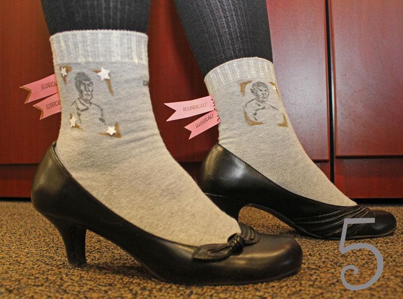 Grey Spock socks