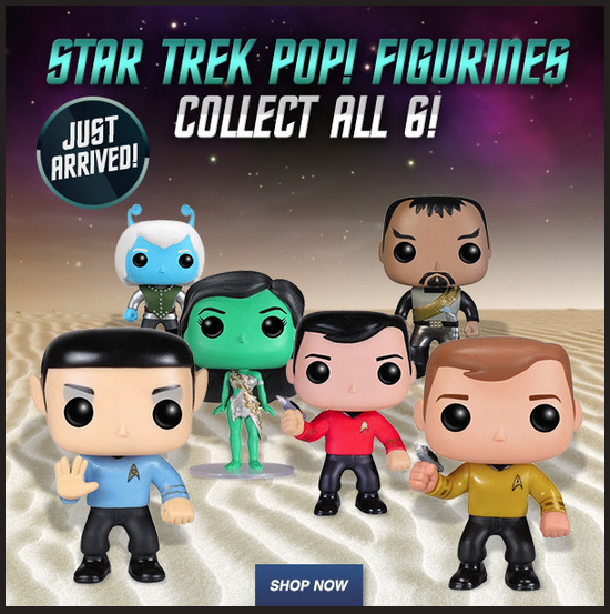 Ad for Trek Funko Pop! Vinyls