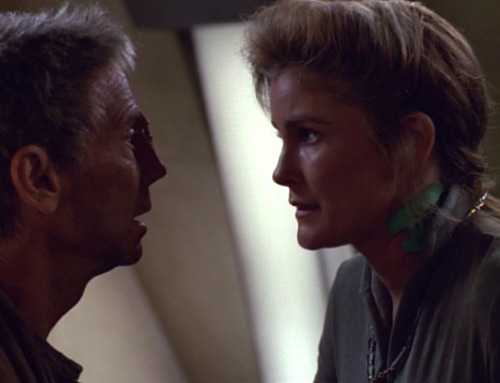 Janeway and Joel Grey as Caylem