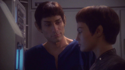 Tolaris looks at T'Pol with a small smile