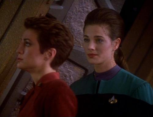 "Dax and Kira talk in ""Duet"""