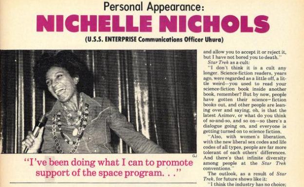 Nichelle Nichols in 1977 Jan Starlog