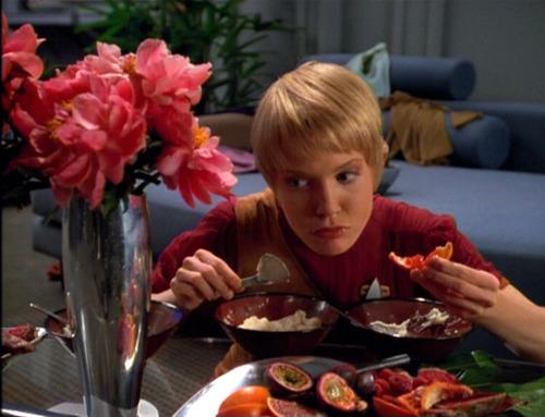 Kes eats a range of strange foods