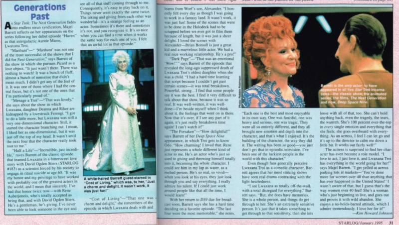 Spread on Lwaxana Troi from Starlog