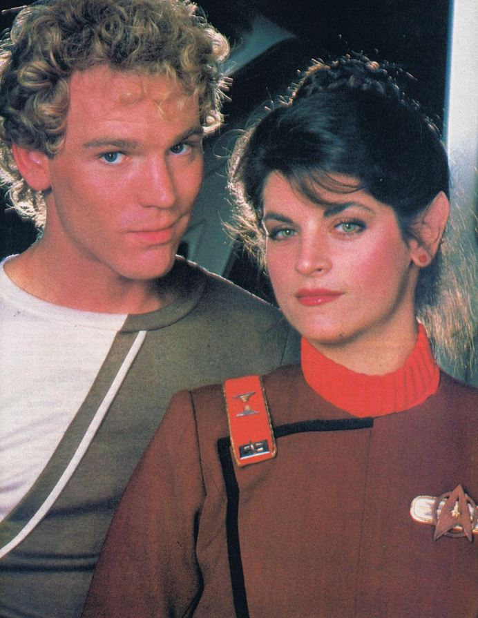 Merritt Butrick and Kirstie Alley as David Marcus and Saavik
