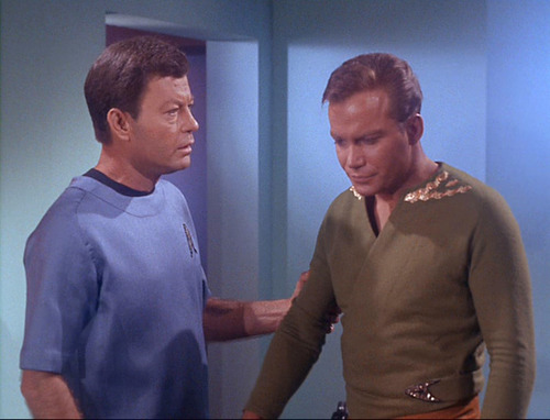 McCoy talks to dry Kirk