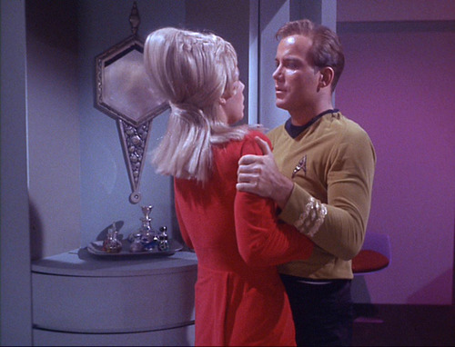 Kirk grabs Janice in her quarters