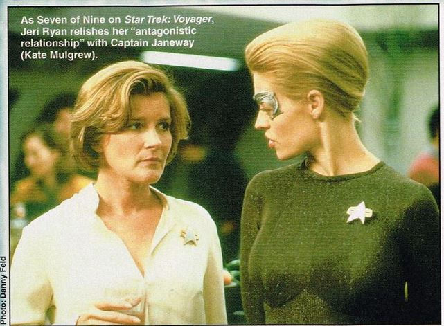 Starlog photo of Janeway and Seven from the show