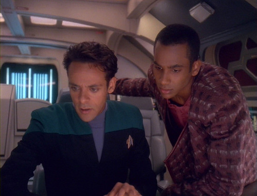 Bashir and Jake in the runabout