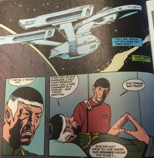 Stonn tells Spock he always felt inadequate next to him