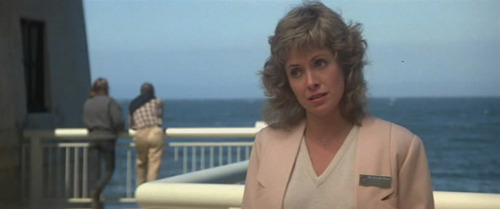 Gillian Taylor at the aquarium in Star Trek IV