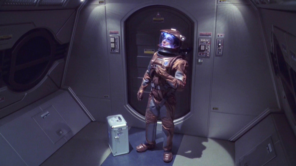 Reed in his EV suit getting ready to go outside