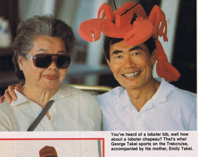 George Takei and his mother on the 1987 Star Trek Cruise
