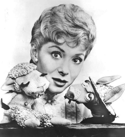 Shari Lewis with Lamb Chop and Charley Horse
