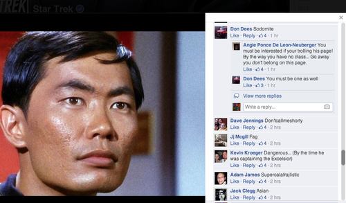Captions on Sulu post