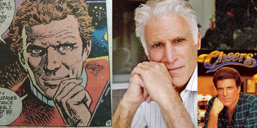 Side-by-side comparison of Kirk in the comic with Ted Danson