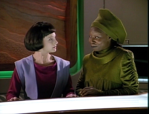 "Guinan talks to Lal in ""The Offspring"""