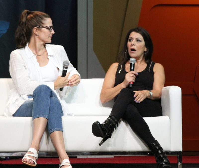 Terry Farrell and Marina Sirtis