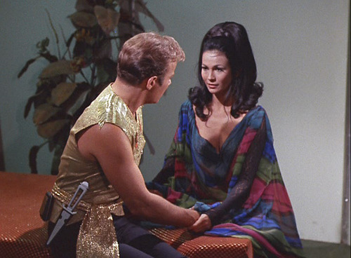 Kirk sits with Marlena in the Mirror Universe