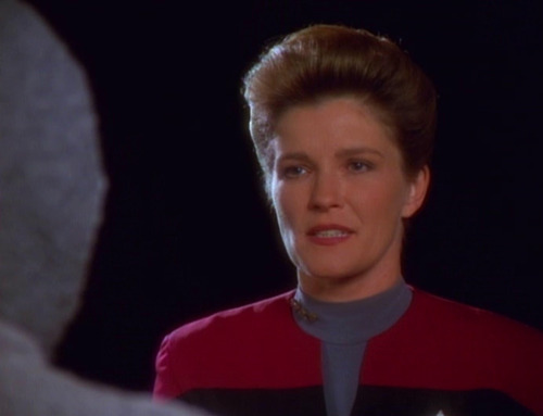 Janeway stares down The Clown